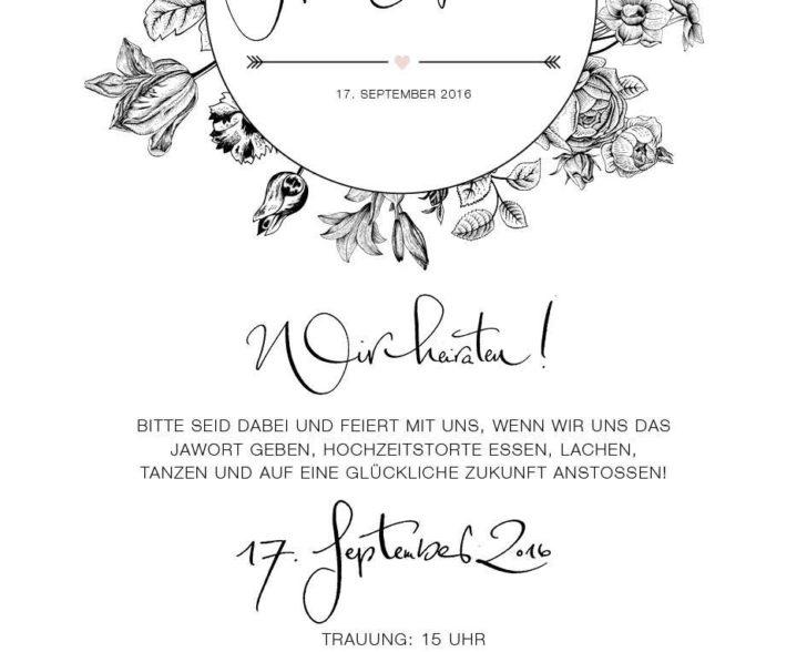 Einladungskarte in Kooperation mit Confetti & Cream