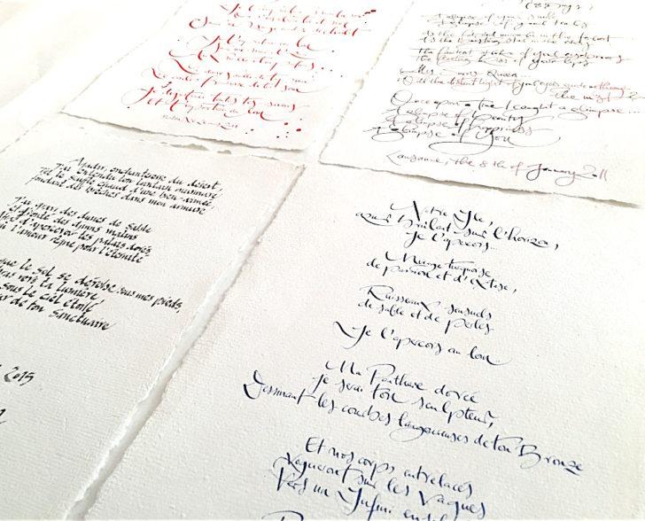 Gedichte auf Büttenpapier
