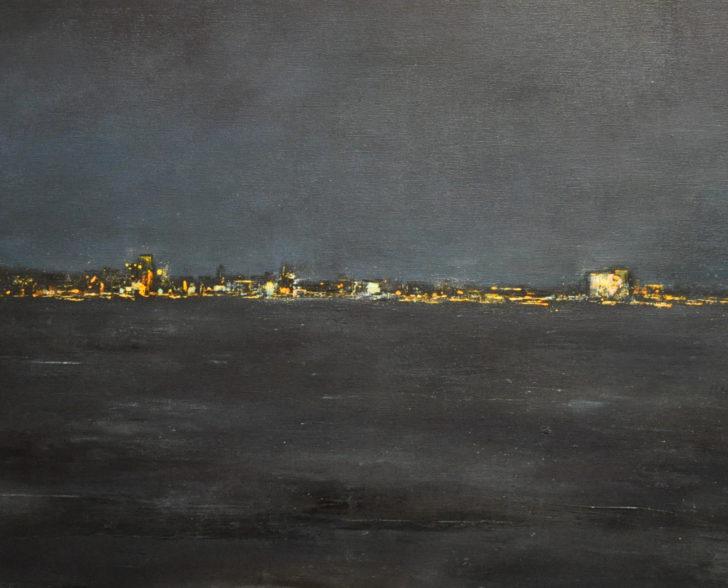 Hafenlichter 160 cm x 80 cm