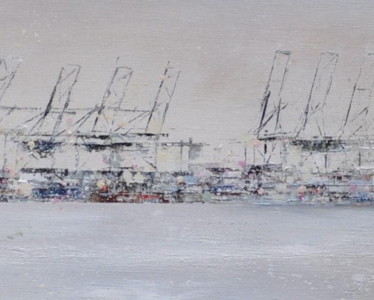 Hafenstille 200 cm x 40 cm