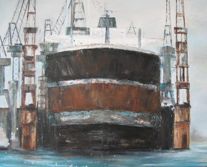 Im Dock 100 cm x 120 cm