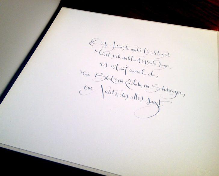 Kalligraphie Hochzeitsbuch