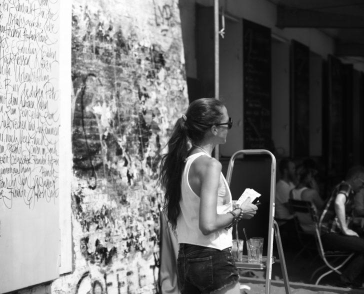 Kalligraphie Performance Was macht Dich glücklich 6