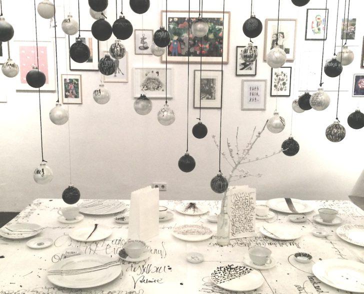 Kalligraphie Tischdeko Weihnachten