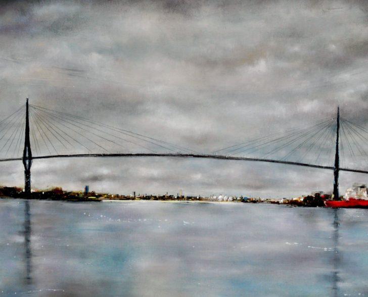 Köhlbrandbrücke II 160 cm x 140 cm