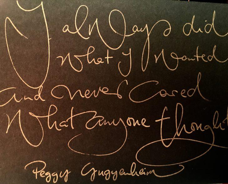 Peggy Guggenheim Zitat