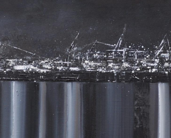 schwarzweiß 200cm x 40 cm