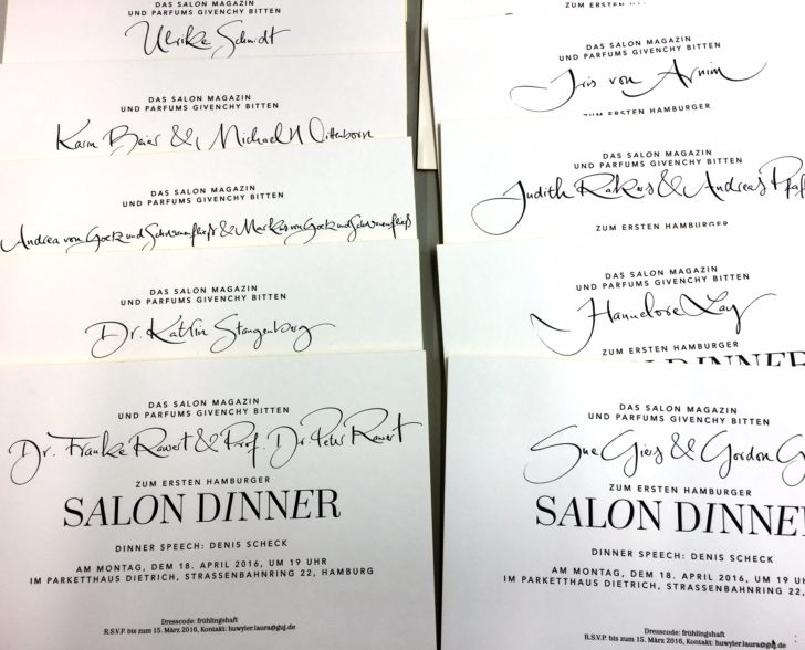 Einladung G+J Salon Dinner