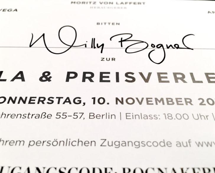Gala Einladung Preisverleihung