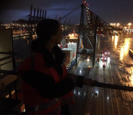 Hoch über dem Hafen