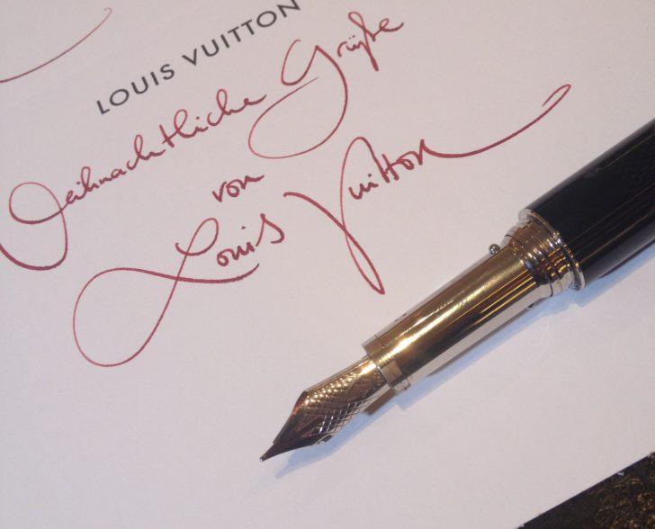 Kalligraphie Weihnachtskarten Louis Vuitton