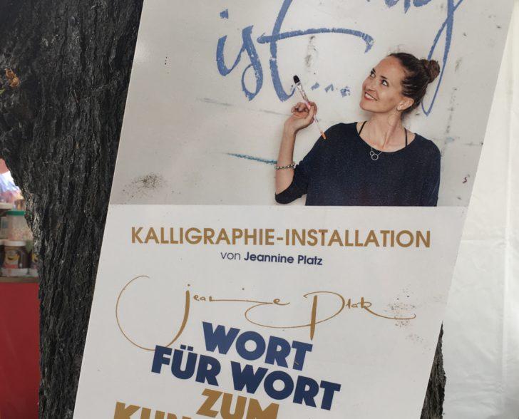 Plakat am Neuen Jungfernstieg