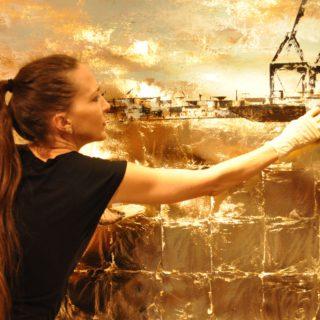 Making of 6 Meter Hafen auf Leinwand