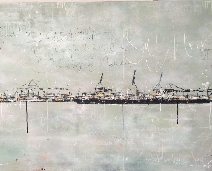 Hafen auf Leinwand