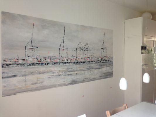 Auf die Wand gemalt