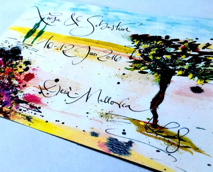 Einladung Mallorca Hochzeit