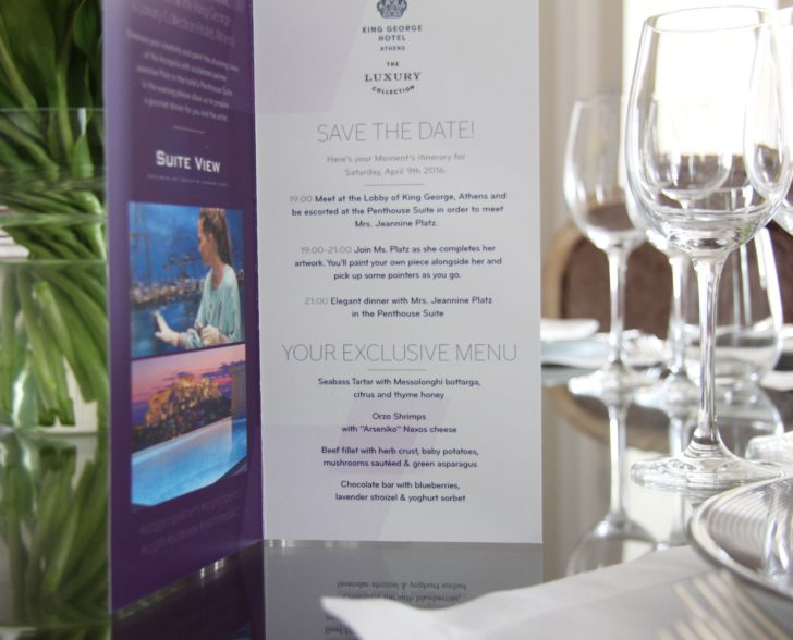 SPG Moment Dinner Card