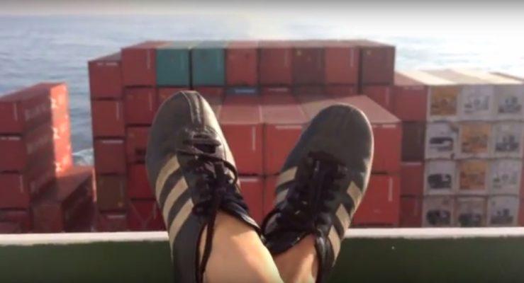 Atelier auf dem Containerschiff Santa Rosa