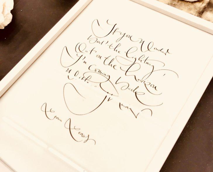 Kalligraphie auf Papier, gerahmt
