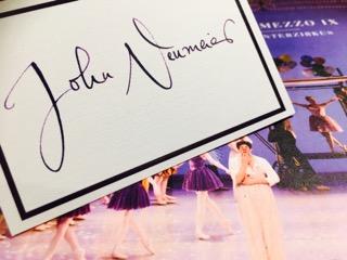 Tischkarte John Neumeier Ballettgala