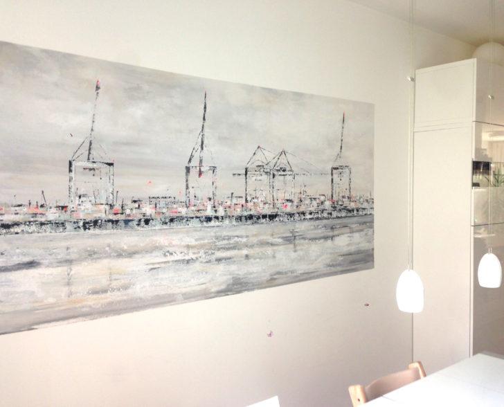 Bild direkt auf die Wand gemalt