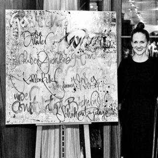 Kalligraphie Performance auf Schloß Elmau