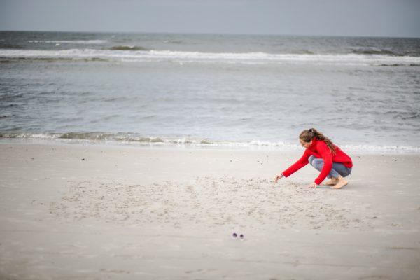 In Sand geschrieben
