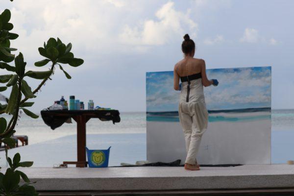 Performance auf den Malediven