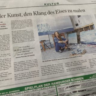 Von der Kunst, den Klang des Eises zu malen / Abendblatt vom 20.11. 2019