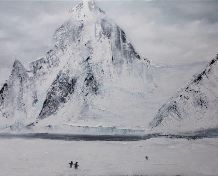 03 64°30.5´S II - 100 cm x 130 cm, Acryl auf Leinwand Kopie