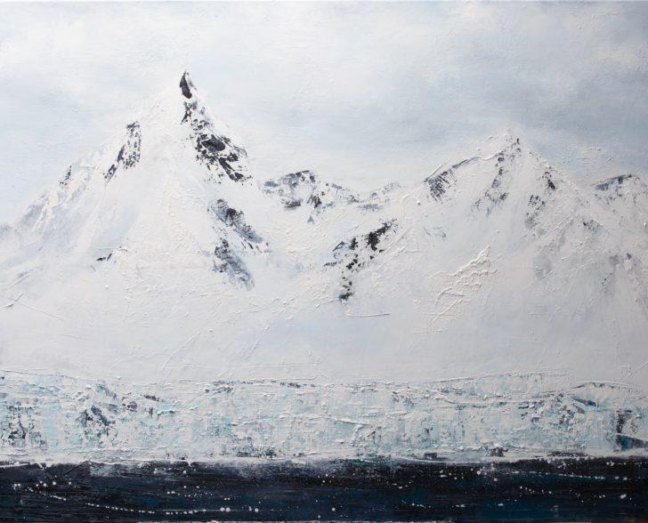 05 64°30.5´S IV - 120 cm x 160 cm, Acryl auf Leinwand Kopie