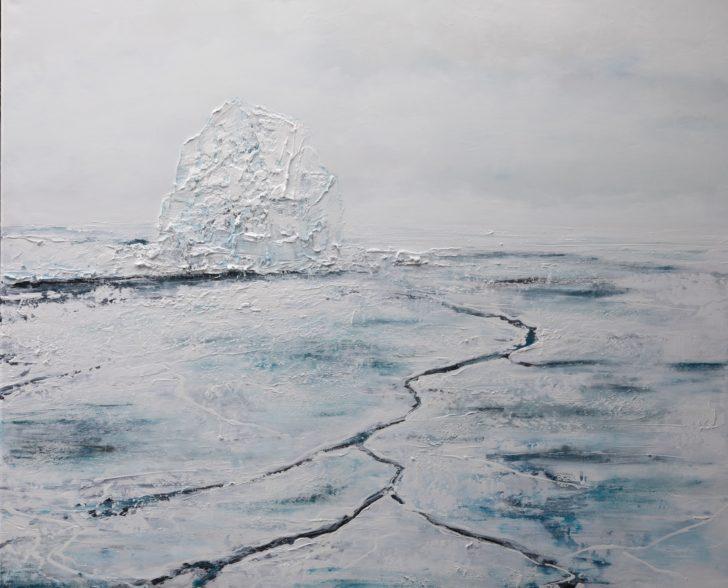 21 82°53.3´N - 90 cm x 110 cm, Öl und Acryl auf Leinwand Kopie