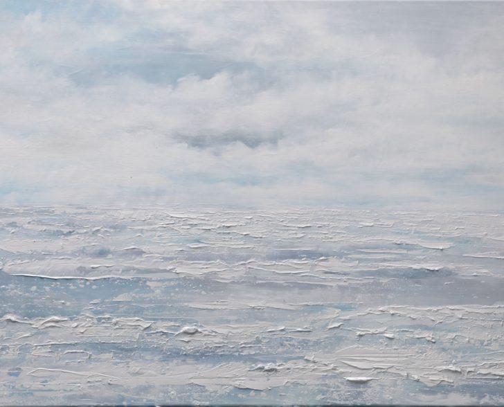 22 82°53.3´N II - 70 cm x 110 cm, Öl und Acryl auf Leinwand Kopie