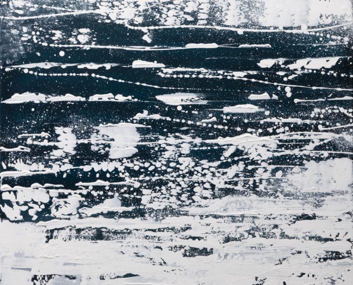 23.1 82°53.3´N a - 80 cm x 80 cm, Acryl auf Leinwand Kopie