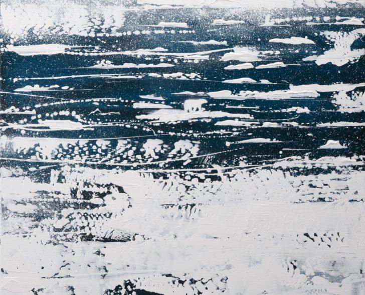 23.2 82°53.3´N b - 80 cm x 80 cm, Acryl auf Leinwan Kopie