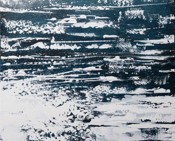 23.3 82°53.3´N c - 80 cm x 80 cm, Acryl auf Leinwan Kopie