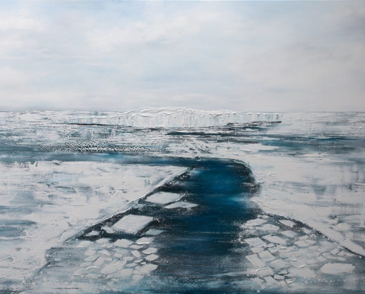 31 87°36.0´N III - 140 cm x 200 cm, Öl auf Leinwand Kopie