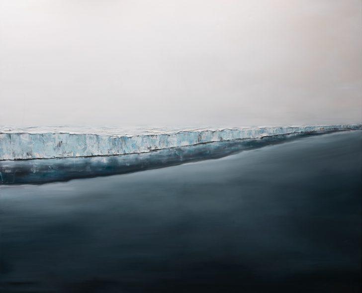34 80°39.3´N II - 140 cm x 160 cm, Öl auf Leinwand Kopie