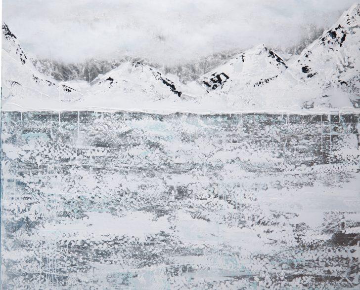 36 Antarktis auf Blattsilber - 140 cm x 140 cm Kopie