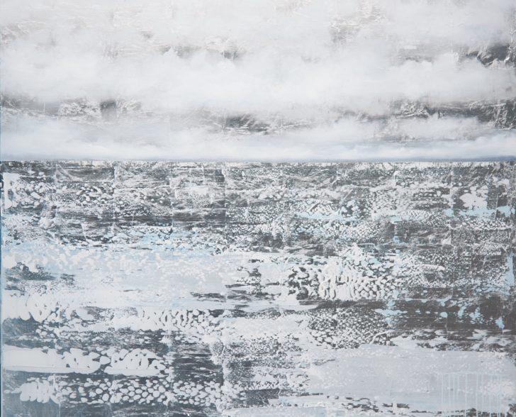 37 Arktis auf Blattsilber - 140 cm x 140 cm Kopie
