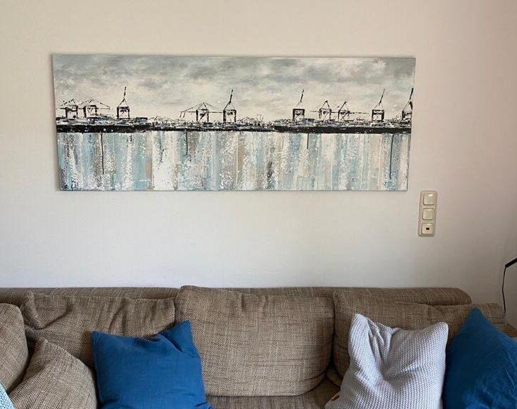 Hafen abstrakt auf Leinwand