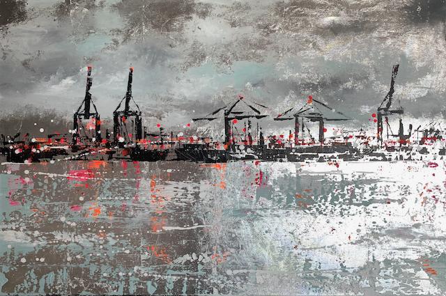Hafen auf Blattsilber