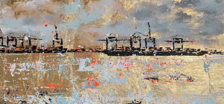 Hafen auf Blattgold (1)